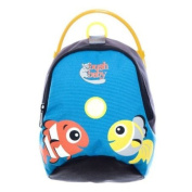 Bush Baby Childrens Mini Back Pack and Reins Blue Fishes