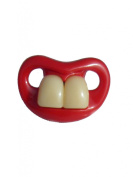 BABY DUMMY SOOTHER PACIFIER FUNNY TEETH NOVELTY FRONT TEETH