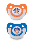 Mebby Asymmetrical Natural Latex Soothers with Anatomical Teats Plus Covers