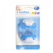 First Steps Pack of 2 Pacifier Dummy Soothers with Orthodontic Silicone Teats BPA Free 0m+
