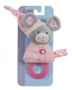 Gipsy Pomme 070169 Teething Ring Mouse 17 cm Pink