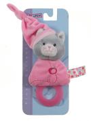 Gipsy Pomme 070166 Teething Soft Toy Cat 17 cm Fuchsia