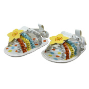 Cute Girls Flower Sandals by Nursery Time - White