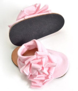 Cotton Baby Girls Soft Crib, Pram Shoes, Pre-Walker Shoes, Stylish Flower Detail