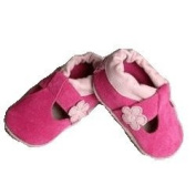 Shoo Shoos Baby Shoes - Fuchsia Suede T-bar 0-6 Months