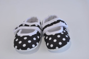 Style Nuvo Mary Jane Style Polka Dot Girls Baby Crib Shoes