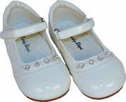 Baby Girls Cream Patent Diamond Shoes