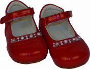 Baby Girls Red Patent Diamond Shoes