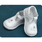 Angels Garment Baby Girls Size 1-7 White Mary Jane Christening Shoes