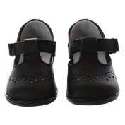 Baby Toddler Girls Black Eyelet Design Mary Jane Trendy Shoes Size 1-7