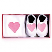 Inch Blue - Babygro & Shoes - Pink Heart Gift Set