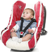 Infant Car Seat Cover (Red)