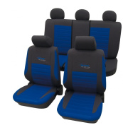 Cartrend 60120 Active Seat Cover Complete Set Blue with Doku Stitching