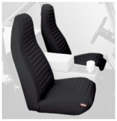 Bestop® Front Seat Covers - High Bucket - Jeep 80-83 CJ5, 76-86 CJ7, 87-91 Wrangler; Sold as pair; Fit factory seats