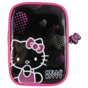 HELLO KITTY Pink Hearts Soft Camera Case, Pink/Black