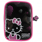 HELLO KITTY Pink Hearts Soft Camera Case, Pink/Black