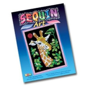 Sequin Art Giraffe