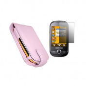 Pink Flip Case LCD Screen Protector Cleaning Cloth for  for  for  for  for Samsung     S3650 Genio