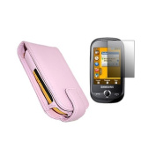 Pink Flip Case LCD Screen Protector Cleaning Cloth for  for  for  for  for  for  for  for Samsung        S3650 Genio