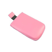 Pink Medium Slip Pouch Protective Case with Pull Tab