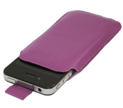Purple Slip Pouch Protective Case with Pull Tab. Apple iPhone 4