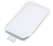 White Large Slip Pouch Protective Case with Pull Tab