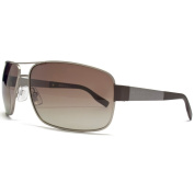 Boss Black Sunglasses Metal Square in Matte Ruthenium.