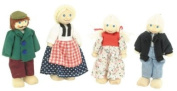 Great Gizmos - Toy Box Wooden Doll house Family