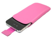 iTALKonline Pink Slip Pouch Protective Case with Pull Tab Apple iPhone 4