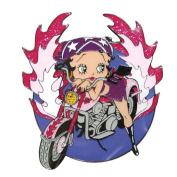 Betty Boop Fridge Magnet Biker