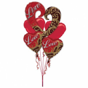 Party - Gold Damask Love Balloon Bouquet - Amscan