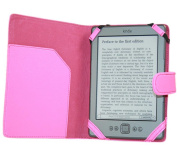 iTALKonline PadWear PINK Executive BOOK Wallet Case Cover Shield Slot for Amazon Kindle 4 (4G) Global Wireless 3G, Kindle 5 (2012) 15cm 15cm 2011 Model