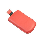 Red Medium Slip Pouch Protective Case with Pull Tab