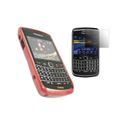 Red ELITE Case LCD Screen protector and Cleaning Cloth BlackBerry 9700 Bold 9780 Onyx