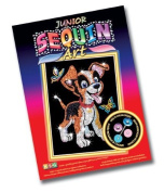 KSG Arts and Crafts Junior Sequin Art 0907 Puppy Picture Kit