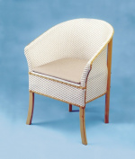 Basketweave Commode Chair