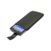 Black Slip Pouch Protective Case with Pull Tab. Sony Ericsson X10 xPreria