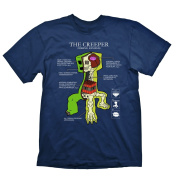 MINECRAFT Creeper Anatomy Medium T Shirt Navy GE1148M