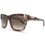 Valentino Sunglasses Lace Wayfarer in Pink.