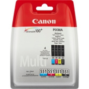 Canon CLI-551 (Multi Pack C/M/Y/B) Ink Cartridge