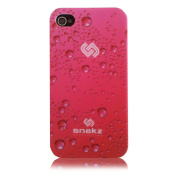 Snekz iPhone 4 4s Hard Case Pink Bubbles