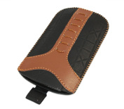Black Brown Small Slip Pouch Protective Case with Pull Tab