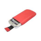Red Slip Pouch Protective Case with Pull Tab. LG KM900 Arena