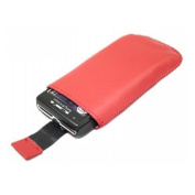 Red Slip Pouch Protective Case with Pull Tab - Sony Ericsson W995