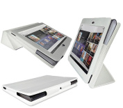 PadWear Executive White Wallet Case With TRI-FOLD SMART TILT For Sony S1
