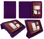 PadWear Executive Purple Wallet Case With TRI-FOLD SMART TILT For Motorola Xoom 2