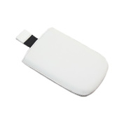 White Medium Slip Pouch Protective Case with Pull Tab