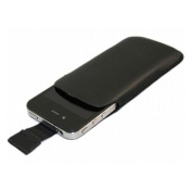 iTALKonline 12037 Black Slip Pouch Protective Case with Pull Tab - Apple iPhone 4