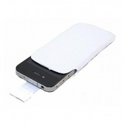 White Slip Pouch Protective Case with Pull Tab Apple iPhone 4