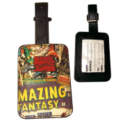 Marvel Comics Rectangular Luggage Tag with Zinc Alloy Badge Official License